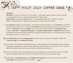 Recipe for Caribou Coffee's Cinnamon Coffee Cake | I am soon happy they posted this recipe!!!