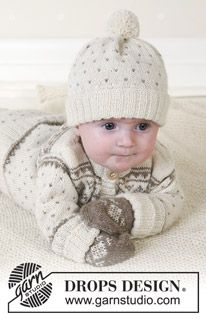 Drops 13-5, free pattern for Nordic baby ensemble.