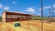 Horse Shelter, Horse Stables, Horse Farms, Cow Shed Design, Cattle Gate, Small Horse Barns, Horse Pens, Barn Layout, Horse Corral