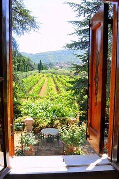 Wooden Shutters, Tuscany, Italy photo via danya