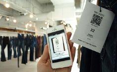 Aplicativo ajudando a encontrar a roupa do tamanho que você precisa!