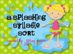 This water/beach themed syllable sort includes 18 beach themed words  - combine with beach ball craftivity!