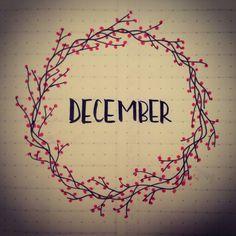 #bujo #bulletjournal #december #titlepage #wreath #berries
