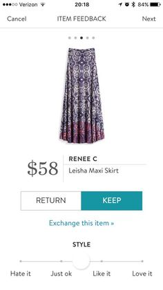 Like the pattern. I don't usually wear maxi skirts but might be willing to try