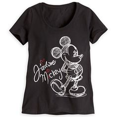 """Mickey Mouse Tee for Women """"J'adore Mickey"""" - DISNEY STORE"""