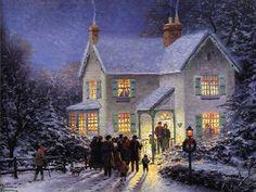 Thomas Kinkade Christmas Scenes | Thomas Kinkade