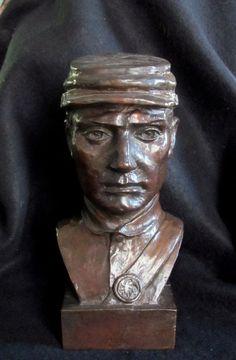 Bronze Lost Wax Cast Sculpture Portrait Civil War Soldier Modern Art Foundry, $350.00, www.springgallerymaine.com, www.modernartfoundry.com