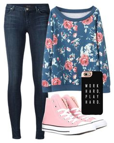 """""""Untitled #329"""" by emmafetzer on Polyvore featuring J Brand, Converse and Casetify"""