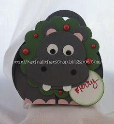 Stampin Up curvy keepsake box hippo - cute!
