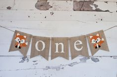 """<a href=""""http://Amazon.com"""" rel=""""nofollow"""" target=""""_blank"""">Amazon.com</a> : One Banner, A Fox One Banner, Fox Highchair Banner, Woodland one Banner, 1st Birthday : Everything Else"""