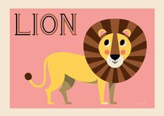 #Poster #Lion by #Ingela Friendly Lion poster 50 x 70 from www.kidsdinge.com             http://instagram.com/kidsdinge        https://www.facebook.com/kidsdingecom-Origineel-speelgoed-hebbedingen-voor-hippe-kids-160122710686387/