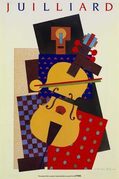 Cubist Violin By Milton Glaser