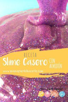 Una fácil receta de Slime casero sin bórax. Estupendo como masa sensorial para niños  | Slime recipe without borax  #CienciaenCasa #Slime