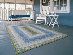 Braided Rugs & Outdoor Rugs - Primitive Home Decor Cottage Rugs, Coastal Cottage, Coastal Homes, Cottage Homes, Coastal Style, Coastal Decor, Cottage Style, Coastal Living, Maine Cottage
