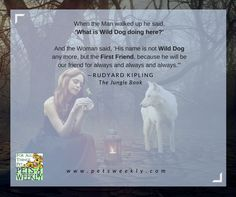 Wild Dog becomes First Friend. #junglebook Rudyard Kipling