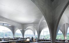 Gallery - Tama Art University Library / Toyo Ito by Iwan Baan - 5 Architecture Wallpaper, Architecture Images, Urban Architecture, Japanese Architecture, Classical Architecture, Foster Architecture, Sustainable Architecture, Toyo Ito, Tama