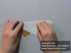 This video demonstrates how to fold a triangle grid. These are often the starting point for origami tessellations, so knowing how to fold them is important. Origami And Kirigami, Origami Love, Origami Paper, Paper Art, Paper Crafts, Diy Crafts, Grand Designs Live, Tesselations, Origami Videos