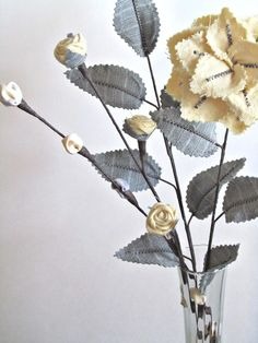 Fabric Leaves and Flowers