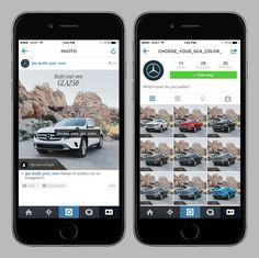 Cette fois Mercedes-Benz se met à la page. Custom possible avec instagram. #dansmabenz. Clap clap