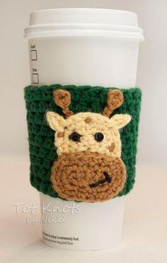 Giraffe beverage coozie https://www.etsy.com/listing/181233811/giraffe-coffee-sleeve-coffee-and-tea