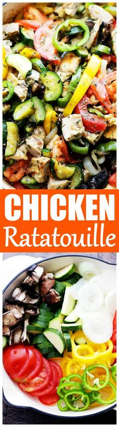 Chicken Ratatouille Recipe is a quick and delicious 30-minute, one-skillet meal packed with fresh garden vegetables, herbs, and chicken. #ratatouillerecipe #easyratatouille #chickenratatouille #healthychickenrecipe #easychickenrecipe #chickenandveggies #30minmeal #onepotmeal