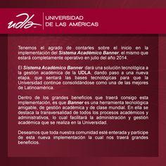 Informamos a la Comunida UDLA acerca de la implementación del nuevo Sistema Académico Banner