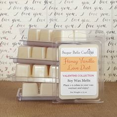 Kiss & Tell Soy Wax Melts / Clamshells - Valentine Collection - Sugar Belle Candles Scented Wax Melts, Soy Wax Melts, Soy Candles, Scented Candles, Homemade Candles, Clamshell Packaging, Sugar Waxing, Romantic Candles, Wax Warmers