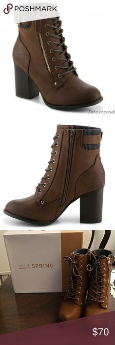 Call it Spring Zoadien booties 7.5 Beautiful boots never used size 7.5. 3 inches tall. Very trendy. I bought it for $90 . I accept offers Call It Spring Shoes Ankle Boots & Booties