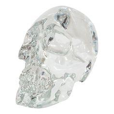 Clear Murano glass skull.
