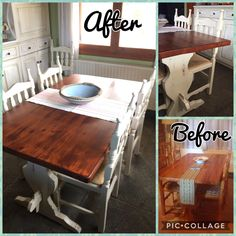 DIY Diy kitchen table make over with chalk paint!