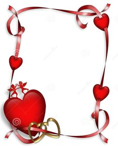 Valentines Day Border, Valentines Day Clipart, Happy Valentines Day Images, Valentines Day Hearts, Vintage Valentines, Rose Flower Wallpaper, Heart Wallpaper, Frame Wall Collage, Heart Border