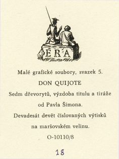 Pavel Šimon: A portfolio with 7 woodcuts with  the adventures of Don Quixote (Don Quijote, Don Quichote, Don Quichot, Don Quichotte)