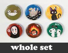 Totoro & Studio Ghibli  6 magnets  15 by CuteAndCoolDesigns, $9.00