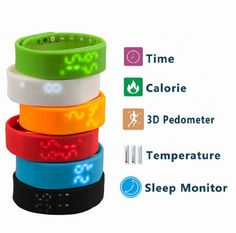 ZTHY W2 3D LED Waterproof Flexible Pedometer USB Sports Sleep Monitoring Health Fitness Bracelet Smart Watch. 6 colors for your choice: Black/ Blue/ Red/White/ orange/green.Dear friends, when you place an order, please leave me a message to tell us which color you want, or we will ship it by random, thanks!!!. Built-in 3D acceleration sensor with high sensitivity, can catch your every small action, making more accurate pedometer. Strap integrated USB 2.0 interface as a whole, plug and…