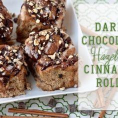 Dark Chocolate Hazelnut Cinnamon Rolls {Whole Wheat & Vegan}
