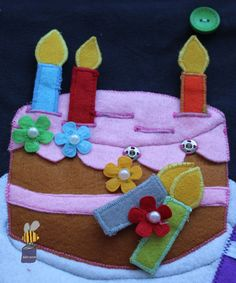 Tort do quiet book Birthday cake quiet book :)