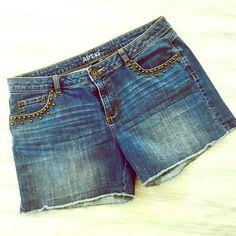 Apt 9 Studded Jean Shorts Apt 9 Studded Jean Shorts; Size 12; 98% cotton, 2% spandex; Excellent Condition Apt. 9 Shorts Jean Shorts