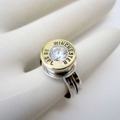 Fancy - Winchester 38 SPL Bullet Casing Ring - this is awesome Winchester, Bullet Ring, Bullet Jewelry, Ammo Jewelry, Shell Jewelry, Unique Jewelry, Jewelry Ideas, Stylish Rings, Country Girls