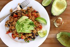 Mexican Refried Rice with Brussel Sprouts and Black Beans-Mexican Refried Rice w… – Frida Mouzon - Detox Foods Healthy Gluten Free Recipes, Vegetarian Recipes, Cooking Recipes, Wild Rose Detox, Mexican Food Recipes, Ethnic Recipes, Tea Recipes, Appetizer Salads, Cleanse Recipes