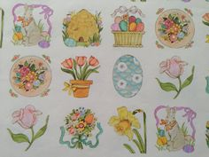 Vintage gift wrapping paper happy easter paper bright neon vintage gift wrapping paper happy easter paper bright neon spring floral fields and easter eggs 1 unused full sheet easter gift wrap gift wrapping negle Image collections