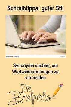 Weniger Wortwiederholungen, abwechslungsreichere Texte Writing Tips, Communication, Writing