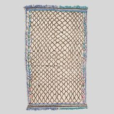 Antique Moroccan Hand-Tufted Rug