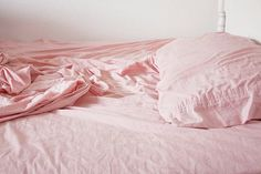 Lovely rumpled pink linens