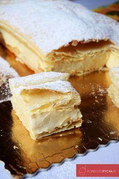 Custard Slice, Poland Food, Polish Recipes, Food Cakes, Yummy Cakes, Food To Make, Cake Recipes, Food And Drink, Tasty