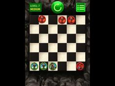 Task: to beat the opponent's checkers from the board  Mechanic: finger click on his checker, and a sharp movement mouse toss pot. Initial speed checkers depends on how sharply throw was made .   The game consists of 50 levels with different sets of checkers player and the opponent's checkers . Opponent is the computer .