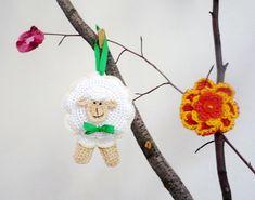 Crochet Sheep Ornament Pincushion Toy Pattern DIY by MonikaDesign, $4.00