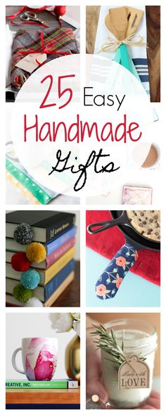 25 Easy Handmade Gifts for Christmas and Special Occasions-These handmade gift ideas will be meaningful for whoever you make them for! Great gifts for the holidays! # easy handmade gifts 25 Quick and Easy Homemade Gift Ideas Easy Homemade Gifts, Diy Gifts, Handmade Gifts, Easy Sewing Projects, Sewing Hacks, Sewing Diy, Diy Projects, Sewing Classes For Beginners, Sewing Basics