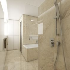 BOTTICINO bathroom design | View from the shower | by CADFACE