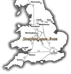 K Williams Stratford Upon Avon Travel map to Stratford-upon-Avon More