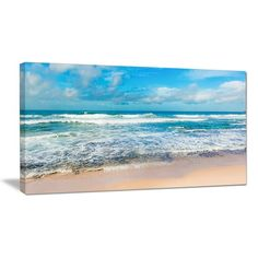 DesignArt Indian Ocean Panoramic View Photographic Print on Wrapped Canvas & Reviews | Wayfair.ca